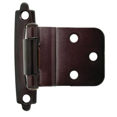 Oil Rubbed Bronze Self-Closing 3/8 in. Inset Cabinet Hinge (1-Pair)