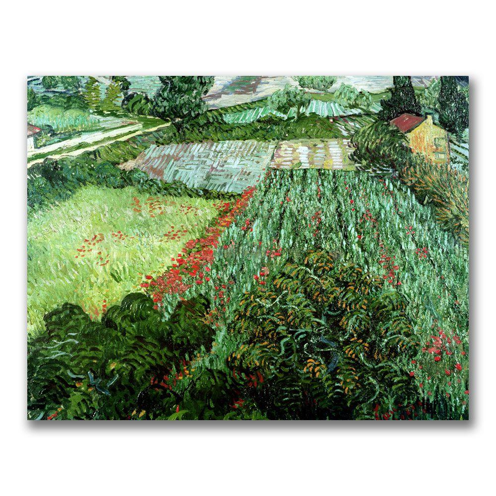 35 in. x 47 in. Field with Poppies Canvas Art