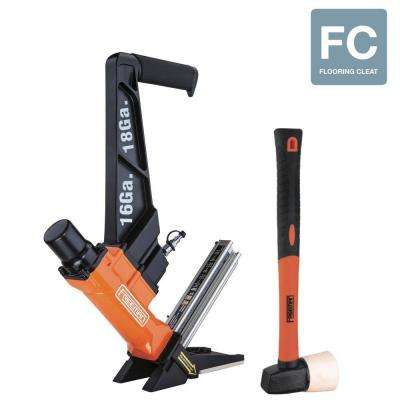 Pneumatic 3-in-1 16-Gauge T/L Cleat Nailer and 18-Gauge Cleat Flooring Nailer