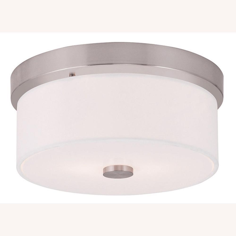 Meridian 2-Light Brushed Nickel Flushmount