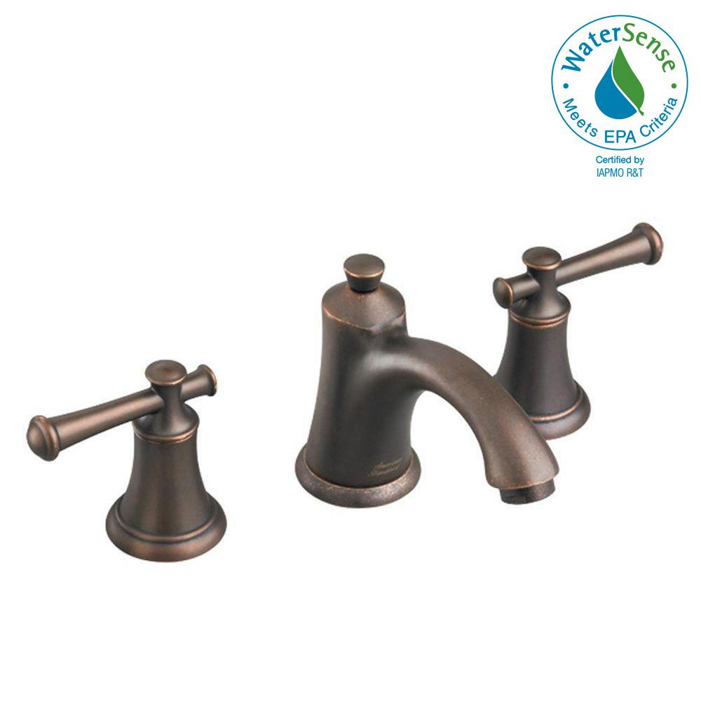8 in. Widespread 2-Handle Mid-Arc Bathroom Faucet in Oil Rubbed Bronze