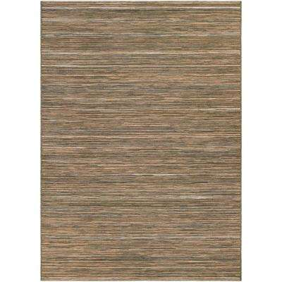 Cape Hinsdale Brown-Ivory 8 ft. x 11 ft. Indoor/Outdoor Area Rug