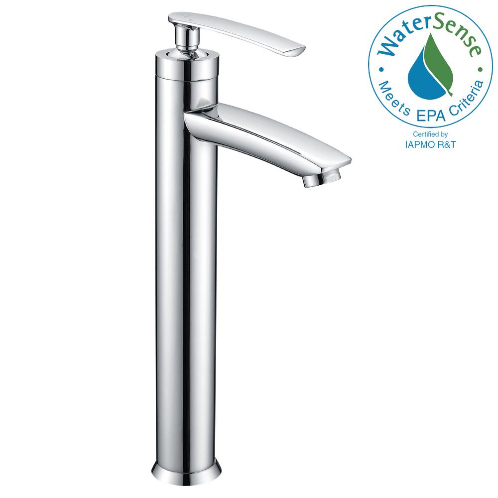 Fifth Single Hole Single-Handle Bathroom Faucet in Polished Chrome