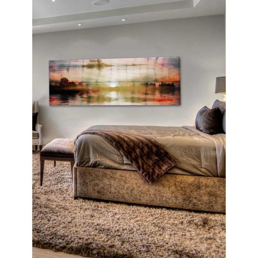 "20 in. H x 60 in. W ""Painted Sunset"" by Parvez"