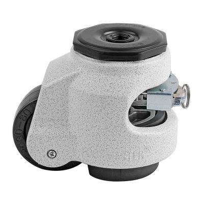 2-1/2 in. Nylon Wheel Standard Stem Ratcheting Leveling Caster with Load Rating 1100 lbs.