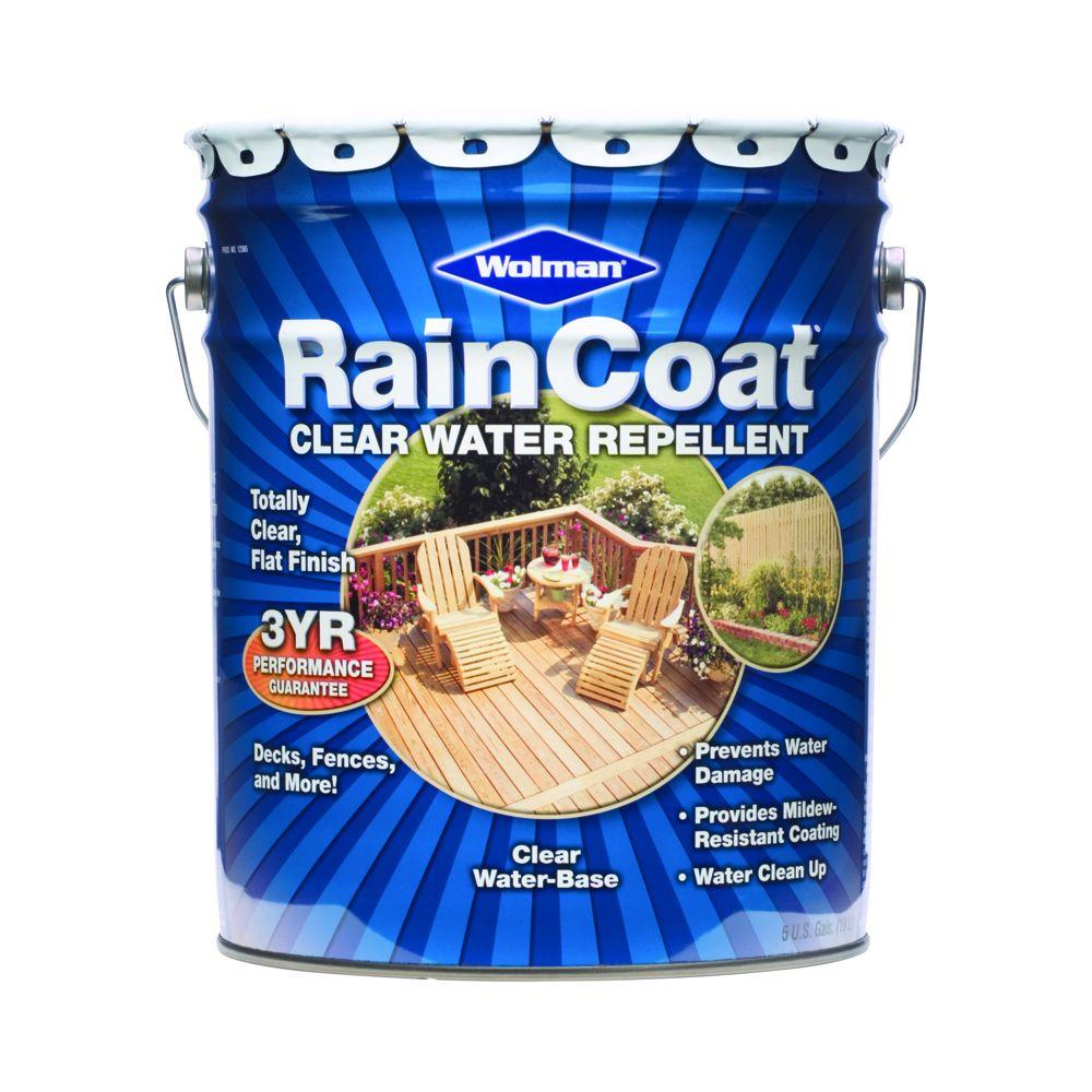 Wolman 5-gal. RainCoat Water-Based Clear Water Repellent Sealer-DISCONTINUED