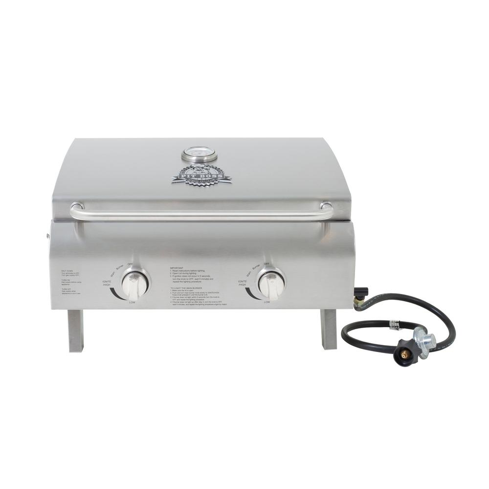 Wonderful Two Burner Stainless Steel Portable LP Gas Grill