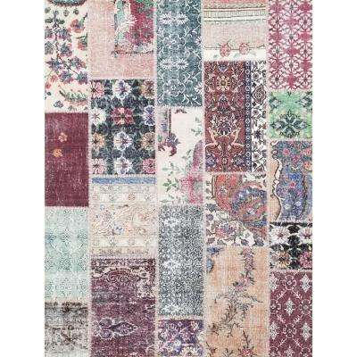 Valencia Collection Multi Color2 ft. x 3 ft. Anti-Bacterial Unique Loom Area Rug