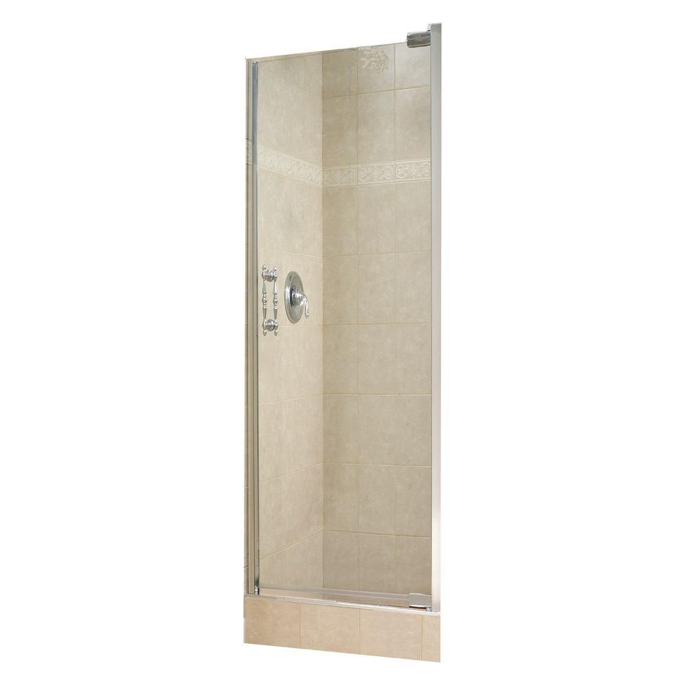 MAAX Alexa 26-1/2 in. x 67 in. Pivot Shower Door in Chrome