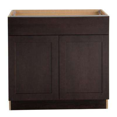 Cambridge Assembled 36x34.5x24.625 in. Base Cabinet with Soft Close Full Extension Drawer in Dusk