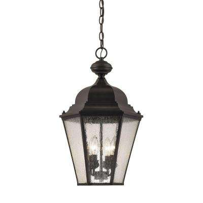 Cotswold 4-Light Oil Rubbed Bronze Outdoor Hanging Lamp
