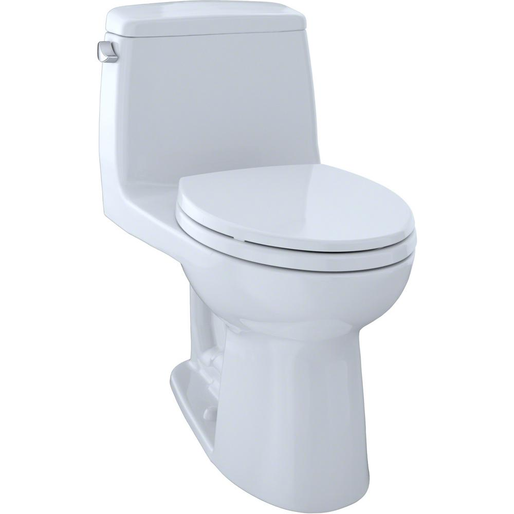 TOTO Eco UltraMax 1-Piece 1.28 GPF Single Flush Elongated Toilet in Cotton White