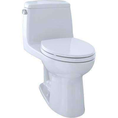 Eco UltraMax 1-Piece 1.28 GPF Single Flush Elongated Toilet in Cotton White