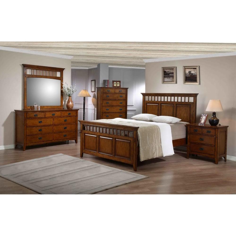 Sadona 5-Piece Bedroom Suite (Queen Bed, Dresser, Mirror, Chest and Nightstand)