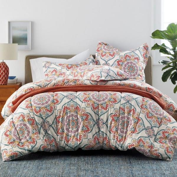 The Company Store Harrison Medallion Wrinkle-Free Sateen King Comforter