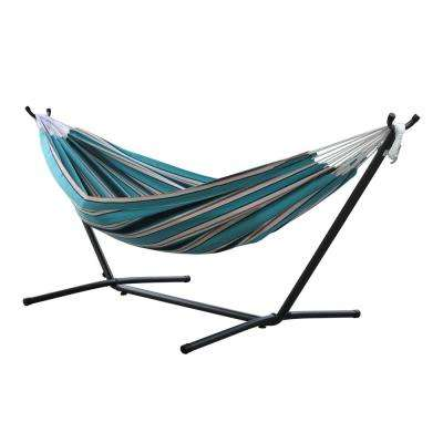 Sunbrella Double Hammock With Stand In Token Surfside