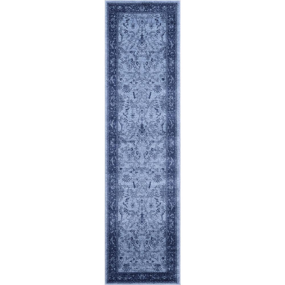La Jolla Floral Blue 2' 7 x 10' 0 Runner Rug