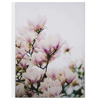 "20 in. x 28 in. ""Magnolia Blossoms"" Printed Wall Art"