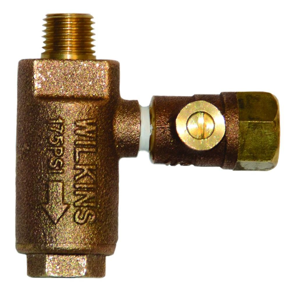 1/4 in. MNPT Metal Freeze Relief Valve with Test Cock