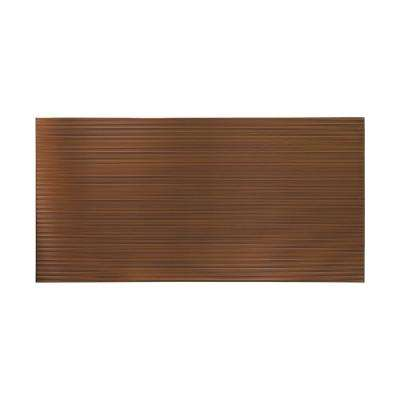 96 in. x 48 in. Rib Decorative Wall Panel in Oil Rubbed Bronze