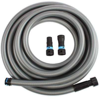 30 ft. Hose with Dust Collection Power Tool Adapters for Wet/Dry Vacuums