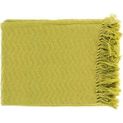 Stanley Lime Cotton Throw