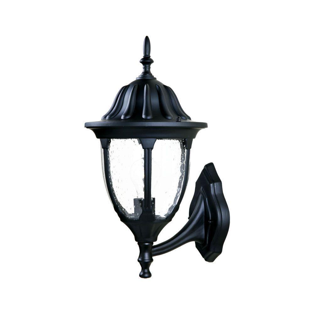 Suffolk Collection 1-Light Matte Black Outdoor Wall-Mount Fixture