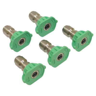 New Pressure Washer Nozzle Shop Pack for General Pump SHC25035Q Color Green, Nozzle Size 3.5, Tip Size 1/4 in.