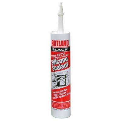 10.3 fl. oz. 500°F RTV High Heat Silicone Black Cartridge