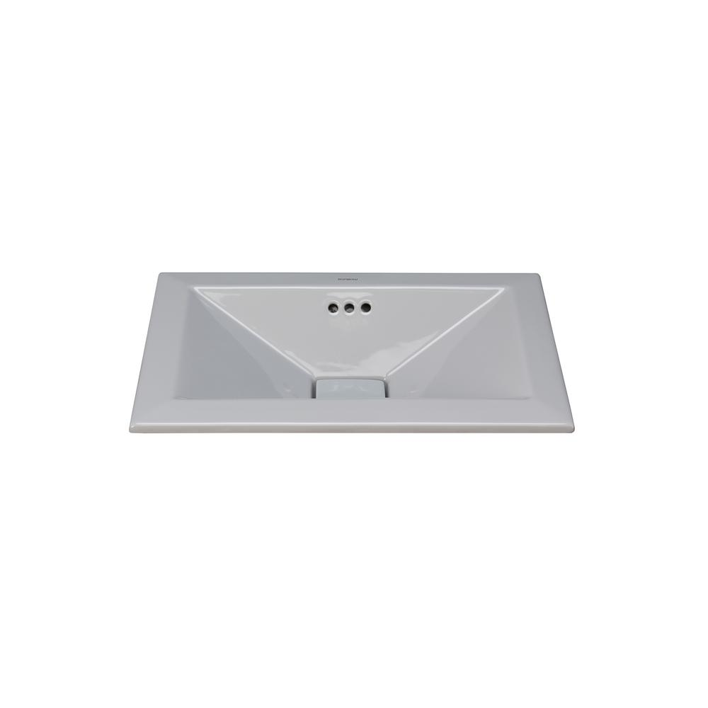 Ronbow Essentials Pyramid 19.625 in. Self-rimming Bathroo...