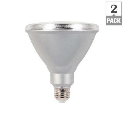 90W Equivalent PAR38 LED Weatherproof Flood Light Bulb Warm White (2-Pack)