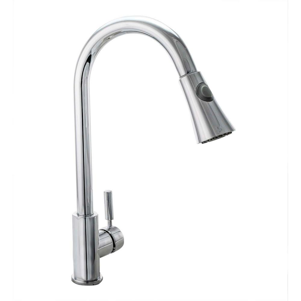 Fontaine Avanzato Single-Handle Pull-Down Sprayer Kitchen Faucet in ...