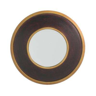 York Elm Round Accent Mirror