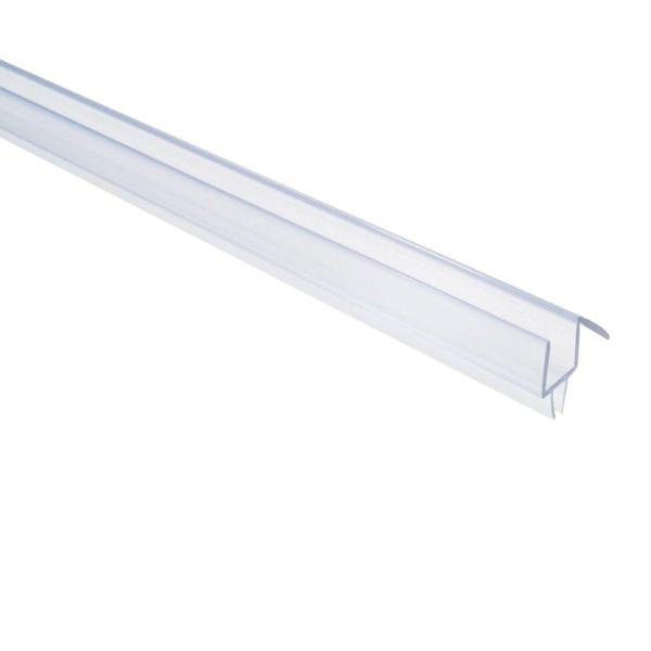 36 in. Frameless Shower Door Bottom Sweep with Drip Rail in Clear for 3/8 in. Glass