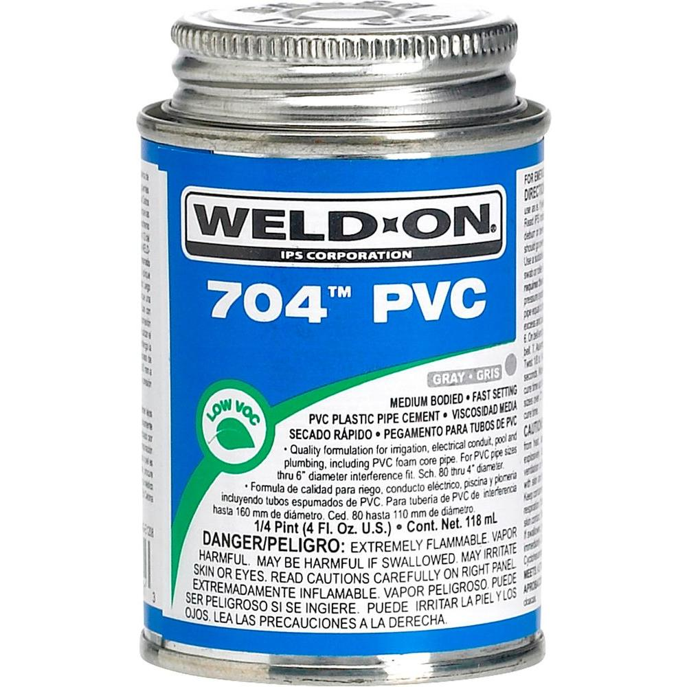 8 oz. PVC 704 Medium Cement - Gray