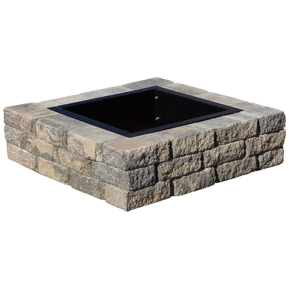 Nantucket pavers ledgestone 47 in concrete fire pit ring for Concrete home kits