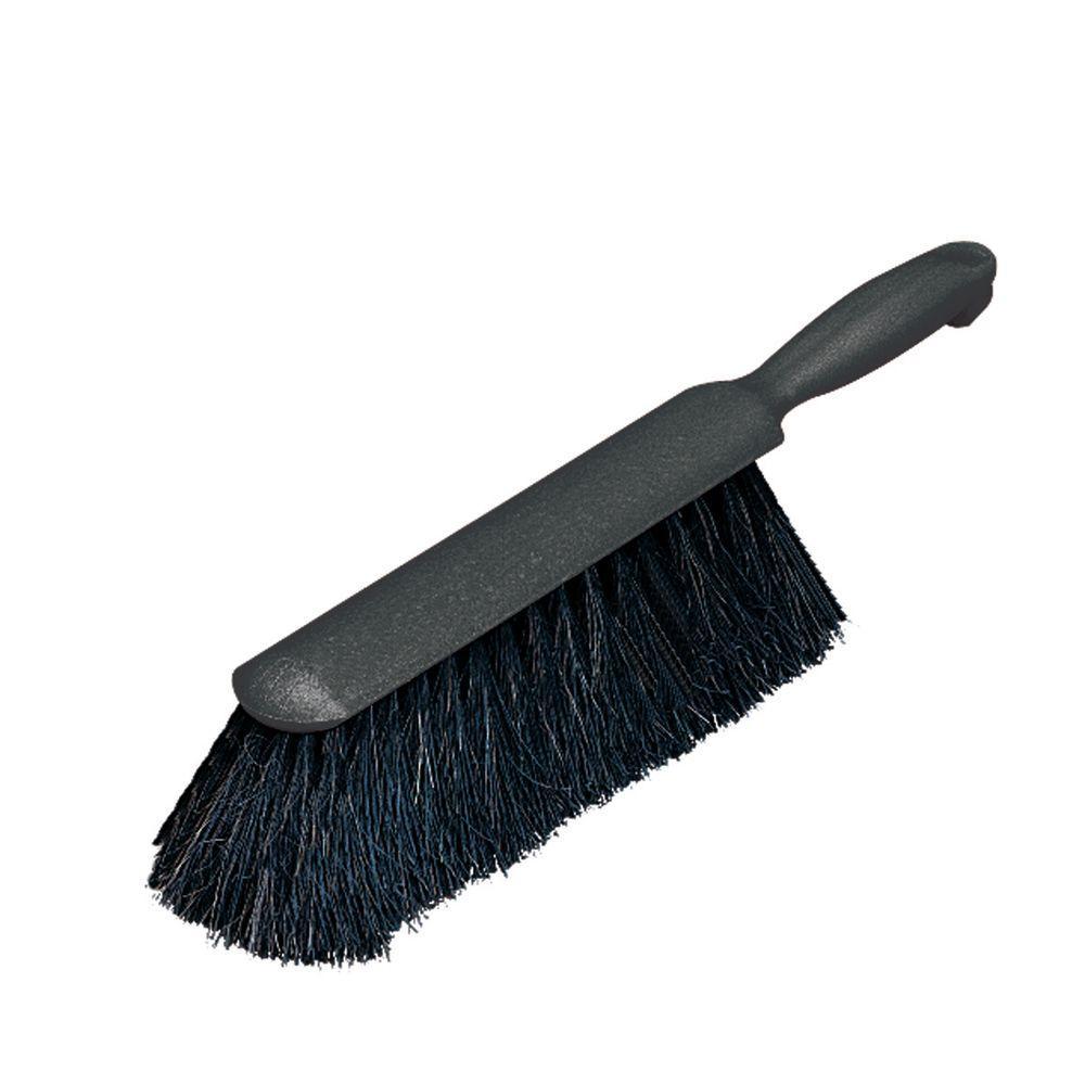 9 in. Horsehair Counter Brush in Black (12-Pack)