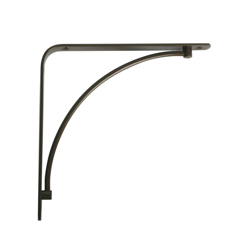 Knape & Vogt Manchester 5.75 in. L x 0.75 in. W Antique Bronze 50 lb. Decorative Shelf Bracket