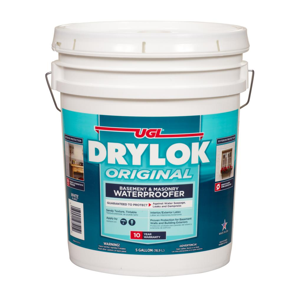 DRYLOK 5 Gal. White Ready Mixed Latex Base Waterproofer