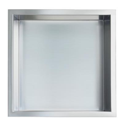 Showroom Series 12 in. x 12 in. Stainless Steel Shower Niche in Brushed Chrome