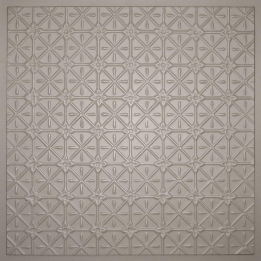 Ceilume Continental Latte 2 ft. x 2 ft. Lay-in or Glue-up Ceiling Panel (Case of 6)