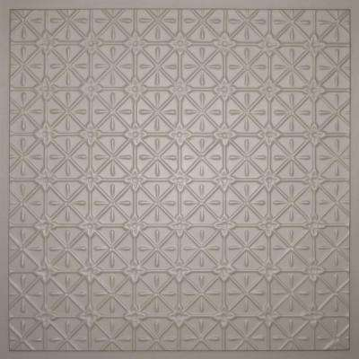 Continental Latte 2 ft. x 2 ft. Lay-in or Glue-up Ceiling Panel (Case of 6)