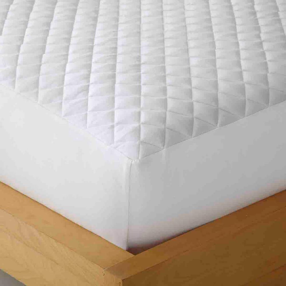 micro flannel box stitched heat reflecting queen mattress pad