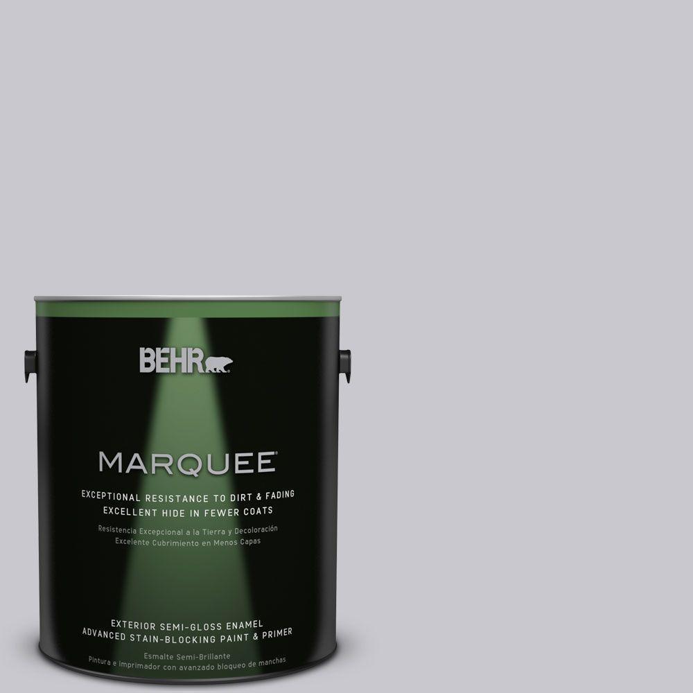 BEHR MARQUEE 1-gal. #ECC-62-1 Urban Gray Semi-Gloss Enamel Exterior Paint