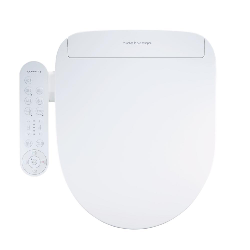 Coway Bidetmega 200 Electric Bidet Seat for Elongated Toilets in White
