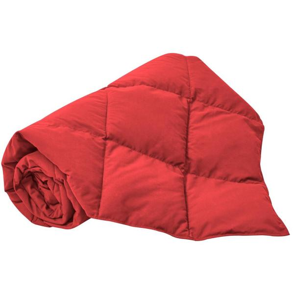 Red Summer Warmth Packable Down Throw