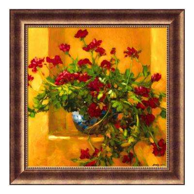30 in. W x 30 in. H 'Ivy Geraniums' by Philip Craig Printed Framed Wall Art