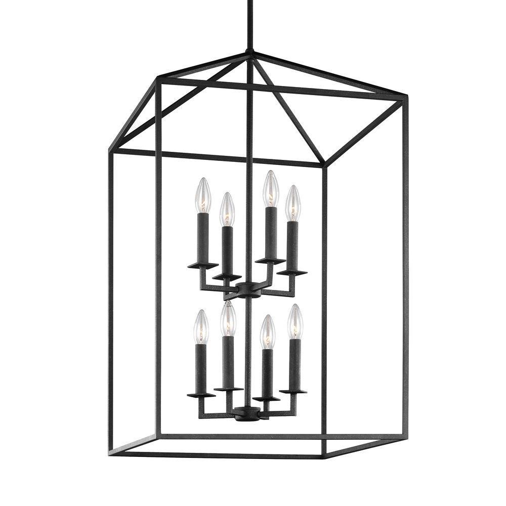 Perryton 19 in. W. 8-Light Blacksmith Hall-Foyer Pendant