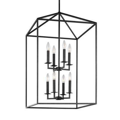 Perryton 19 in. W. 8-Light Blacksmith Hall-Foyer Pendant