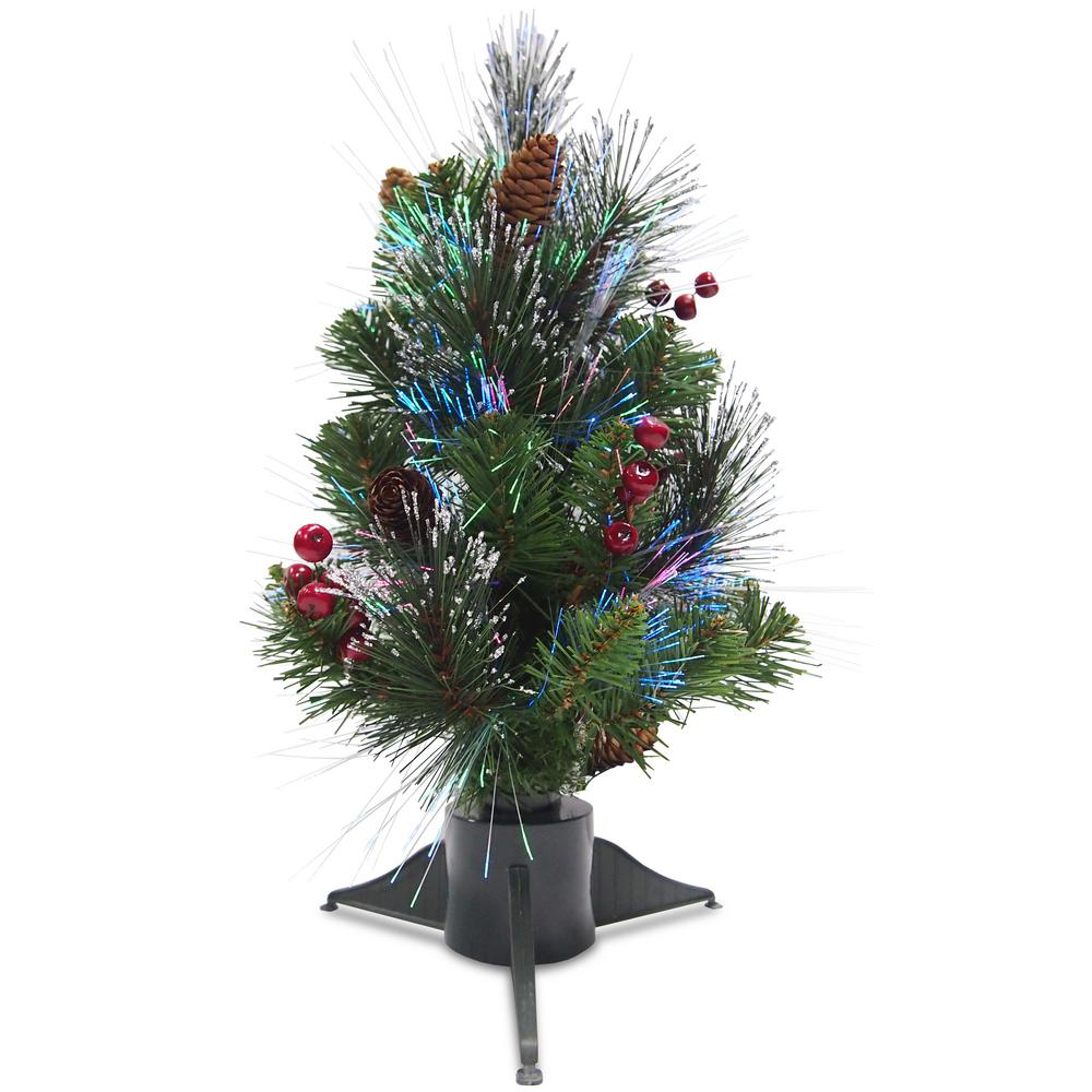 fiber optic crestwood spruce artificial christmas tree szcw7 126 18 the home depot